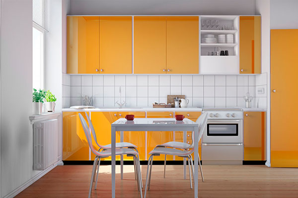 Distribución en una cocina pequeña